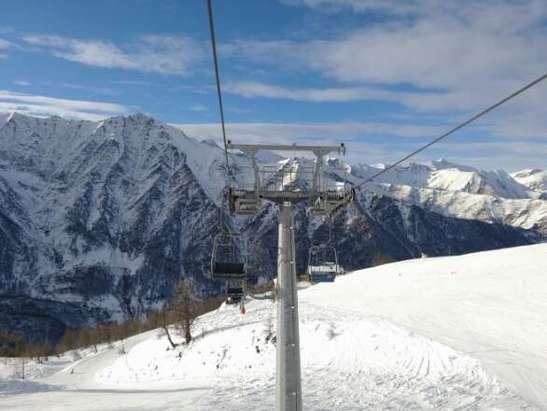 Giornata fantastica, neve fantastica e piste bellissime... altro che Sestriere!