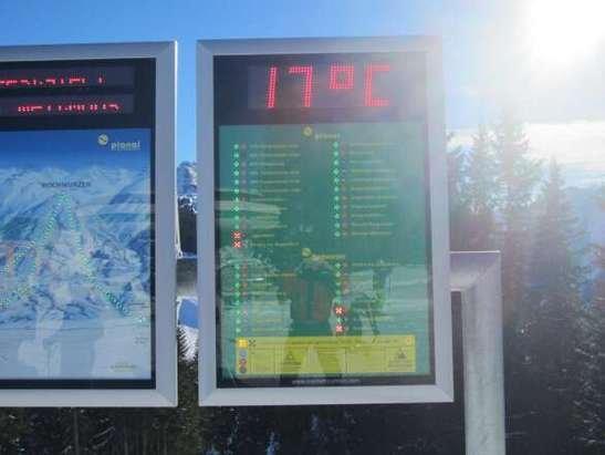 Temperatur wie im Sommer