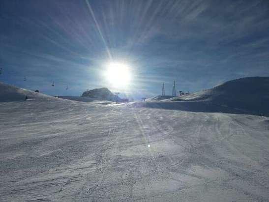 Giornata spettacolare, niente vento e piste preparate bene, complimenti così si fa!