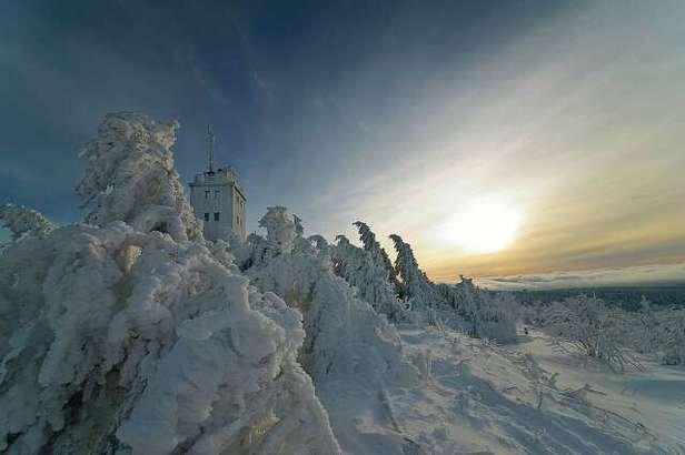 Gute Wintersport und Winterwetter Bedingungen