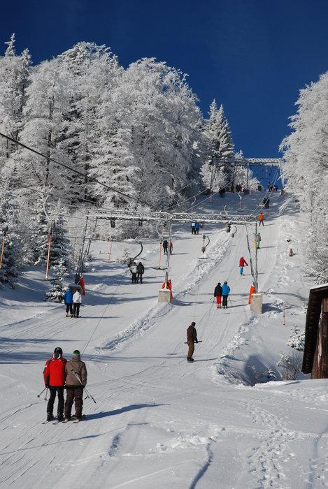 Blauer Himmel, weißer Schnee - © Schigebiet Unterberg