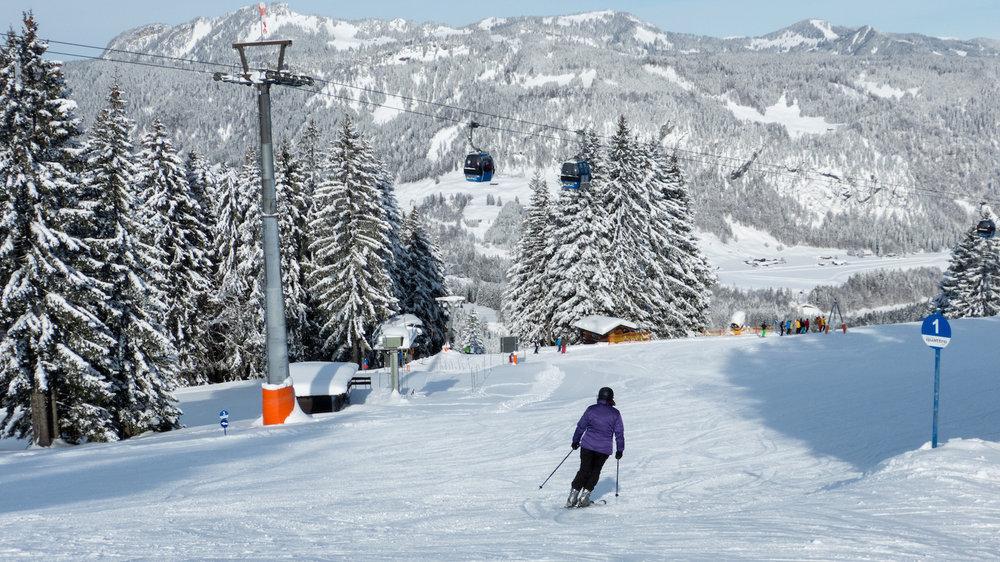 Skifahren am Söllereck - © Bergbahnen Oberstdorf/Kleinwalsertal