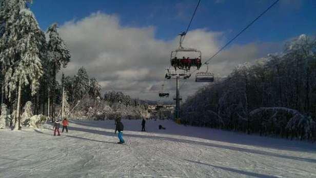 Nice quality snow. Very short runs though.