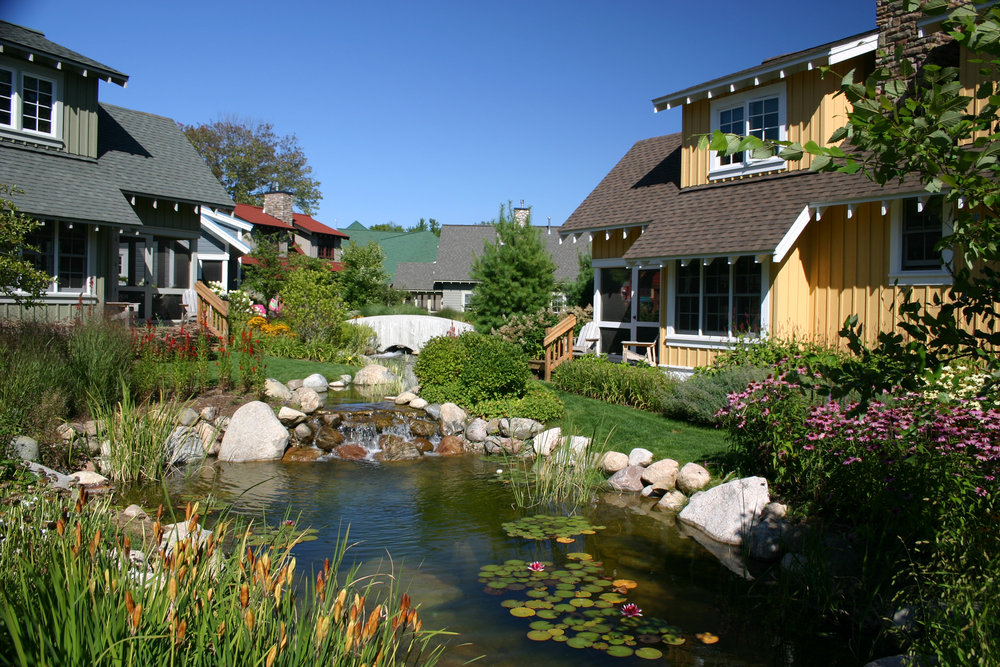 Cottages at Water's Edge, Crystal Mountain, MI.
