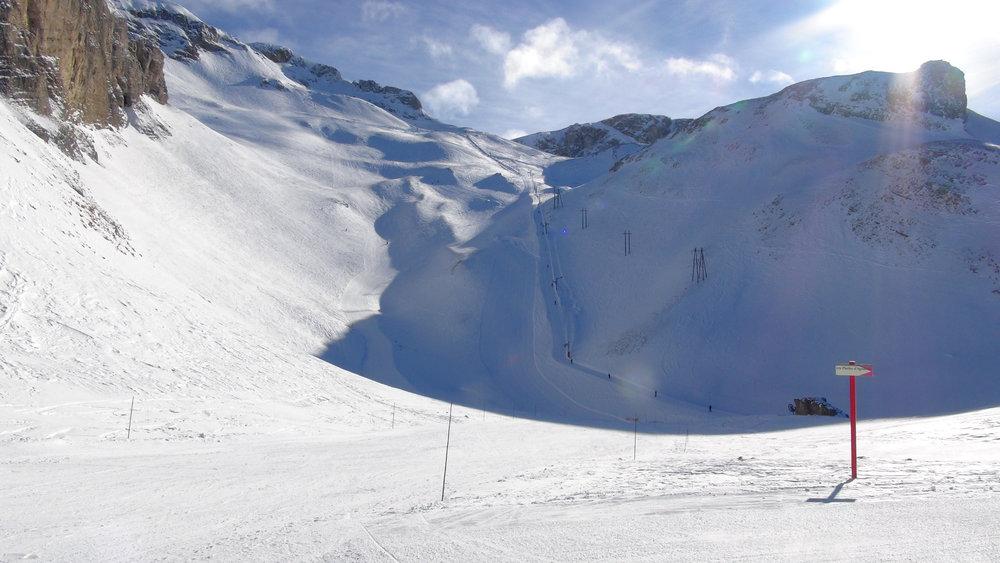 Secteur du Pierra, sommet du domaine skiable de Superdevoluy/La Joue du Loup - © Stéphane GIRAUD-GUIGUES / Skiinfo.fr