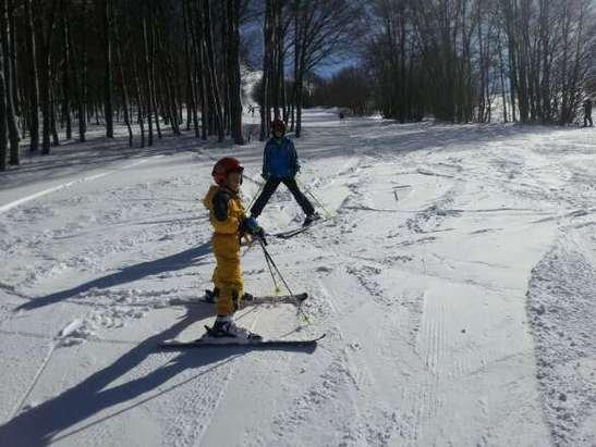 Tanta neve e nelle giornate infrasettimanali poca gente!