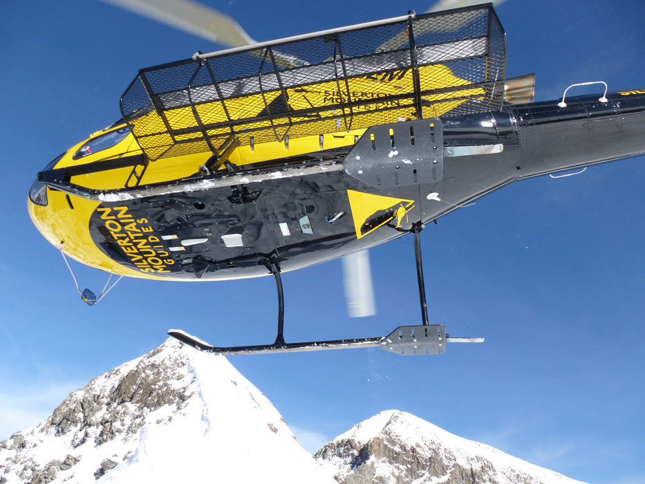 What's not to love about the rush of rotors overhead with Silverton's helicopter-assisted skiing? - © Krista Crabtree