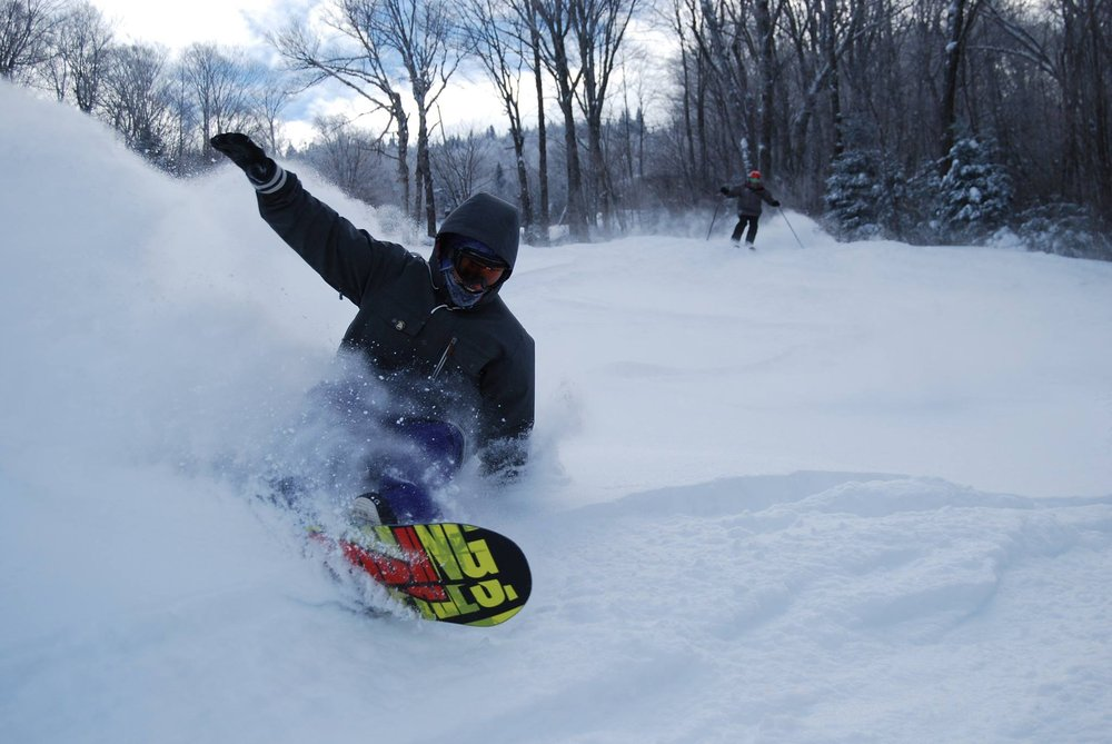 Some Vermont resorts, like Burke Mountain managed to pick up a half a foot or better. - © Burke Mountain