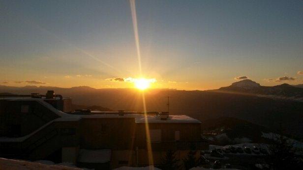Les 7 Laux - beau coucher de soleil  - © lepersda