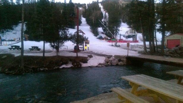 Sipapu Ski Resort - Dawn's early light. Yesturday was great spring skiing. Today looks the same. - ©8vio33