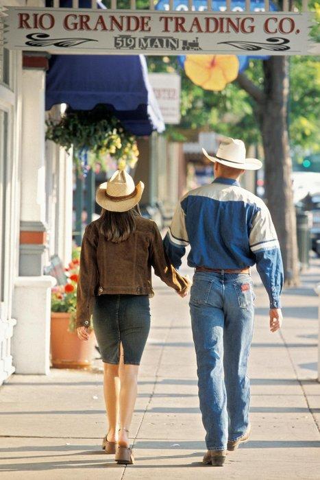 Shoppers in downtown Durango, CO.