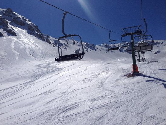 Ovindoli - 7 aprile splendida giornata sciato fino alle 15 - © iPhone di Stefano