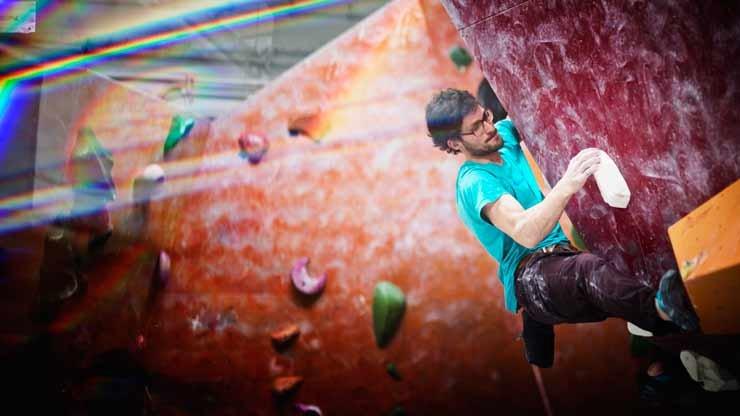 Daniel Jung beim HardMoves 2015/2016 KickOff-Event in Hannover - © HardMoves Boulderleague