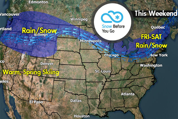 Snow Before You Go: Significant Warm Before the Storm - © Meteorologist Chris Tomer
