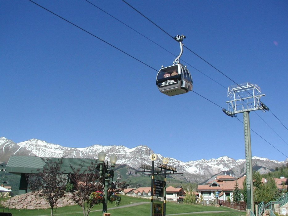 The Telluride village gondola.