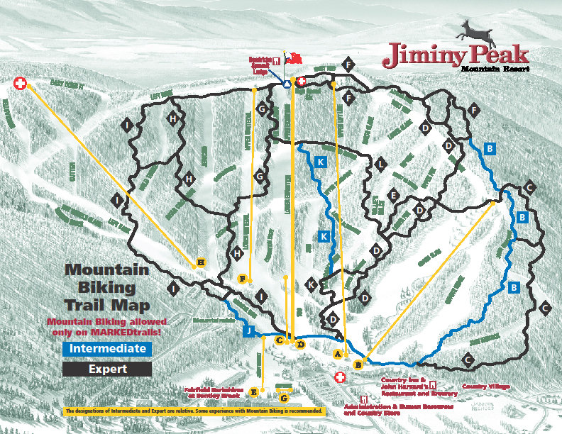 Jiminy Peak Mountain Biking Trail Map