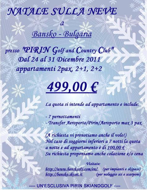 Natale al Pirin - © Pirinskiandgolf @ Skiinfo Lounge