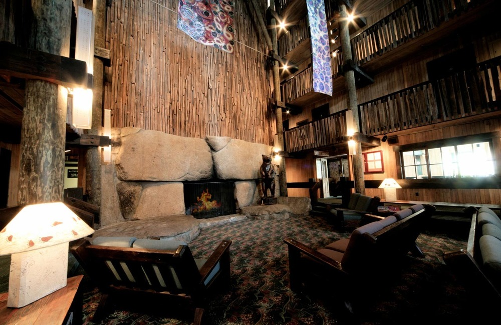 The lobby of the Bear Valley Lodge.