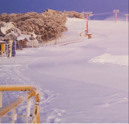 Mt. Buller - Opening weekend is here and the keen skiers are up and at it. 30cm base ready to be carved up, one of the best opening weekends in recent history. - © Chambo