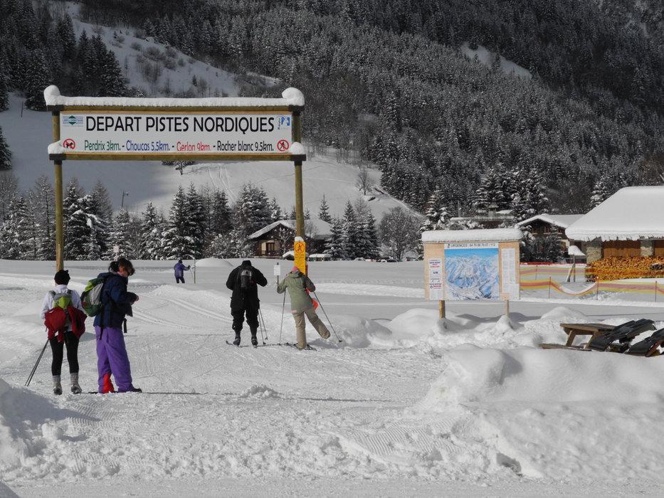 Départ du domaine nordique de Pralognan la Vanoise - © Office de Tourisme de Pralognan la Vanoise