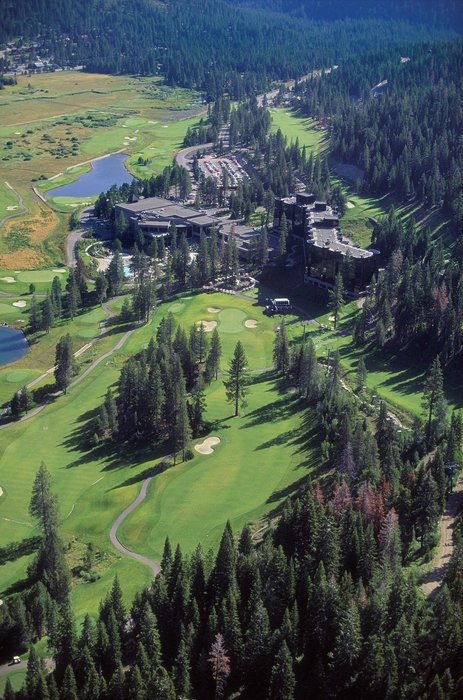An aerial view of The Resort at Squaw Creek.