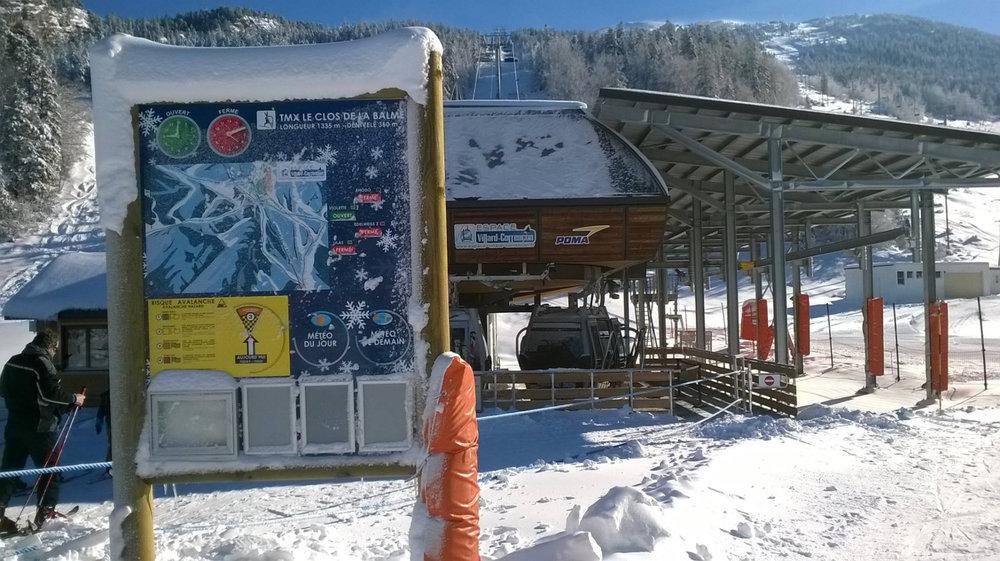 En route pour les pistes de ski de Villard de Lans via le télémix - © Office de Tourisme de Villard de Lans