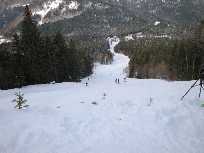 La piste rouge du téléski de Chamechaude sur le domaine skiable du Col de Porte - © Station de ski du Col de Porte
