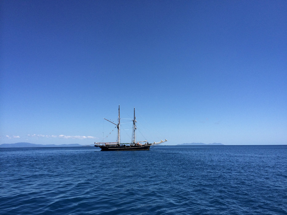 Eines der vielen Segelboote vor den Whitsunday Islands - © Julia Mohr   Florian Reuter