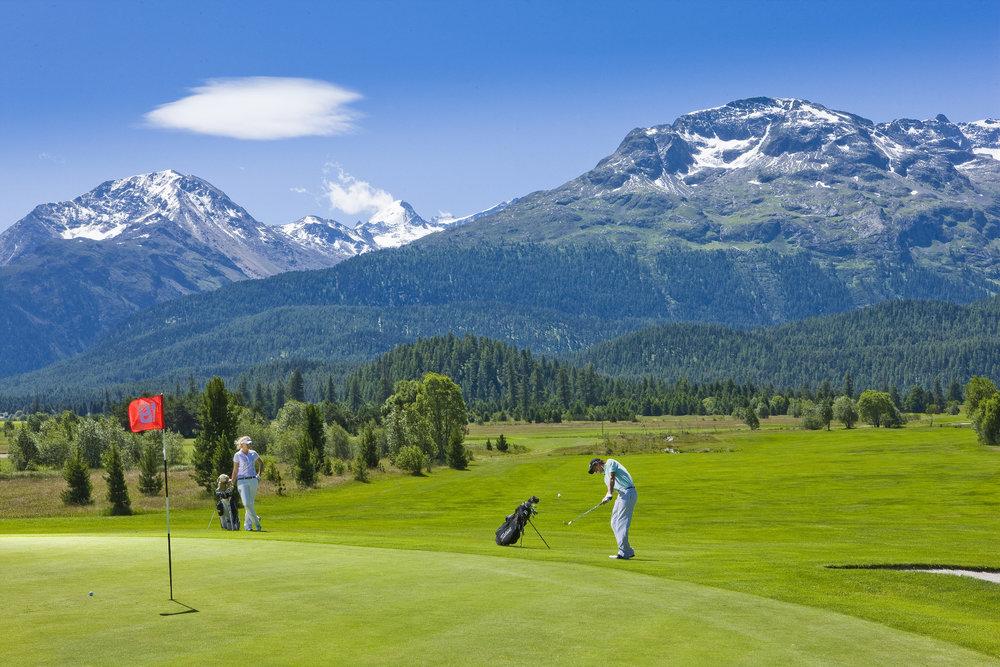 Golfplatz Samedan bei St. Moritz - © Graubünden Ferien | Andrea Badrutt