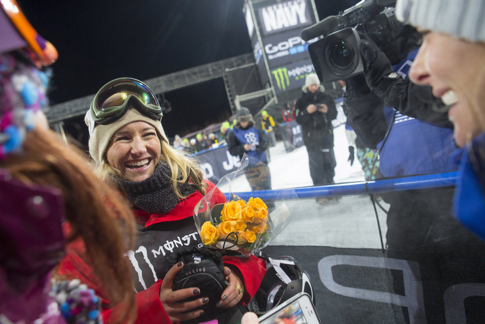 Gretchen Bleiler at the X Games. - © Jeremy Swanson