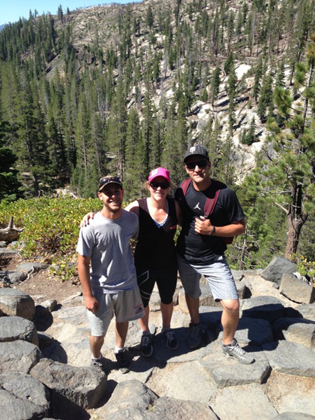 Stacey Cook loves to explore Devils Postpile and Reds Meadow. Here she is at the Postpile with her two brothers.  - © Stacey Cook