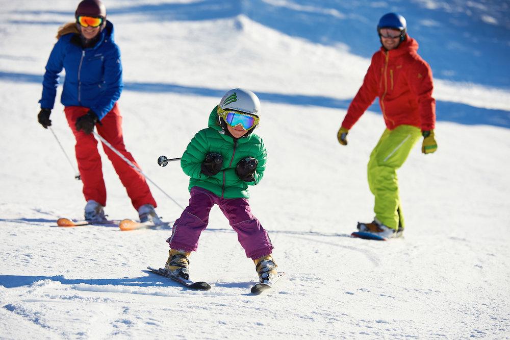 Barn har mye raskere progresjon dersom de får riktig utstyr fra starten av. - © Fellhornbahn GmbH