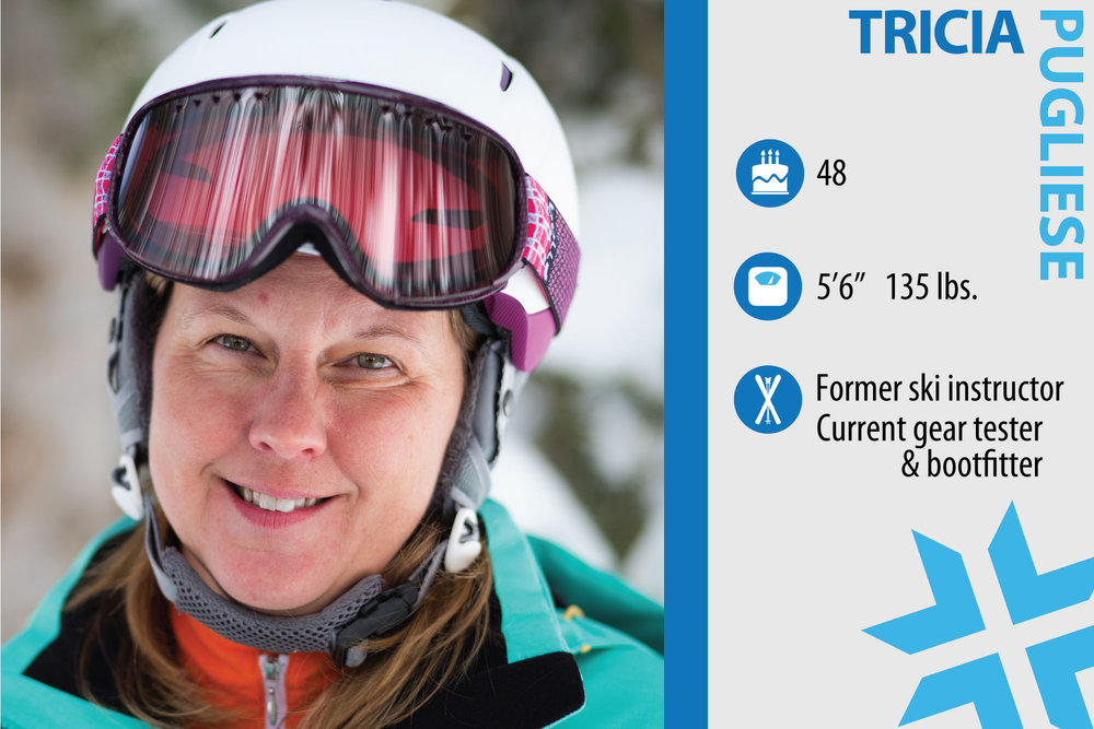 """Tricia Pugliese. Job in real life: Site manager and gear review editor for EpicSkic.om, MasterFit bootfitter. What are you working on in your own skiing? """"Air. I would love to be able to get air with more confidence."""" - © Liam Doran"""