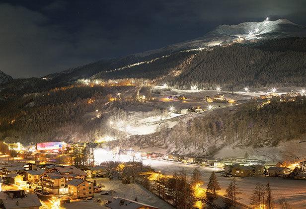 Noční pohled na tratě v Söldenu - © Ötztal Tourismus