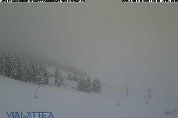 Sestriere, Neve fresca 02.10.15 - © Vialattea webcam