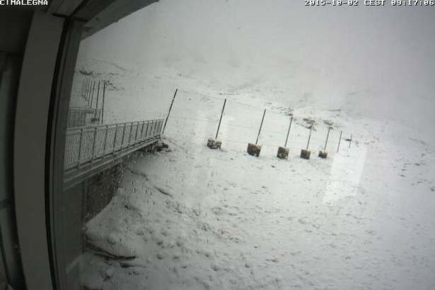 Alagna, 2.10.2015 - © Webcam Monterosa Ski