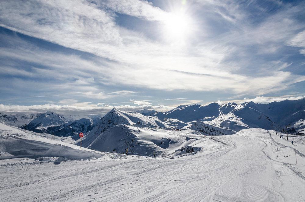 Sur les pistes de ski de Vars la Forêt Blanche - © Rémi Morel