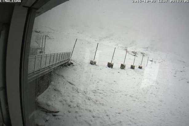 Alagna, Neve fresca 02.10.15 - © Webcam Monterosa Ski