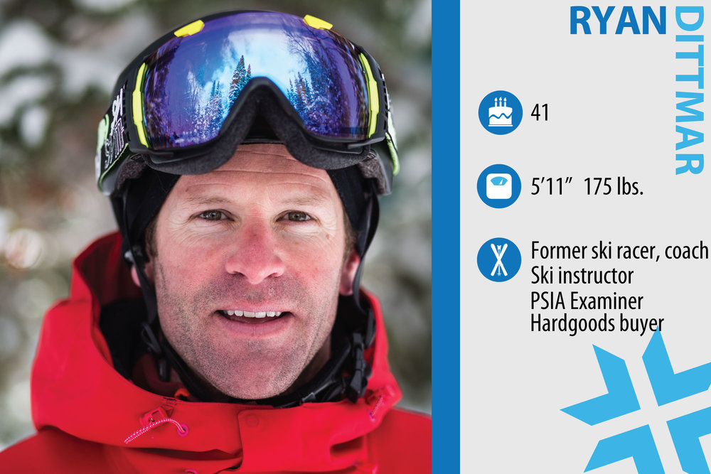 "Edbert ""Ryan"" Dittmar. Job in real life: Mechanical Engineer/Explosives Testing and Safety, ski instructor. What are you working on in your own skiing? ""I want to keep dropping big air and stay dynamic in my movements. The hardest part is to maintain the agility and flexibility—yoga is becoming a key element."" - © Liam Doran"