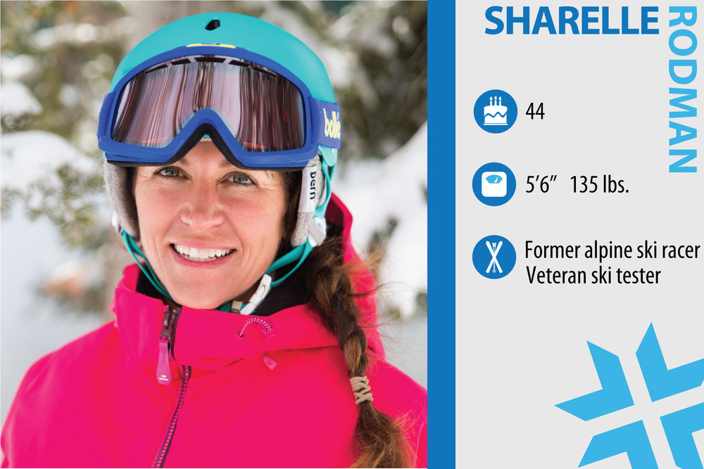 "Sharelle Rodman. Job in real life: Utah Sales Rep for Riviera Paddlesurf and mom. Who inspires you when it comes to skiing? ""My husband, Craig Rodman, who makes the junkiest snow look like a powder day, and my girl crush skier, Jill Johnson, for her buttery smooth agility and ripping lines."" - © Liam Doran"