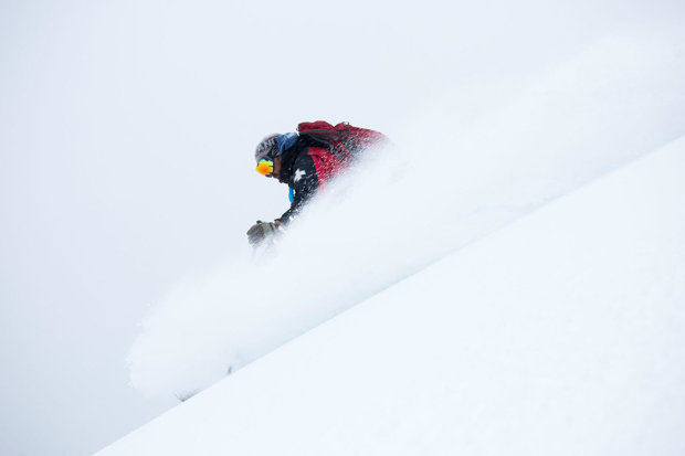 A Wolf Creek Patroller Samples the Goods on Thursday, Nov. 5 - © Jason Lombard