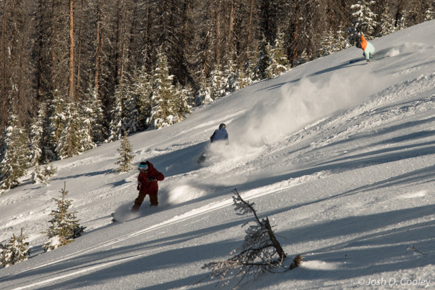 Riders Enjoy Powder at Wolf Creek Ski Area Nov. 7, 2015 - © Josh Cooley