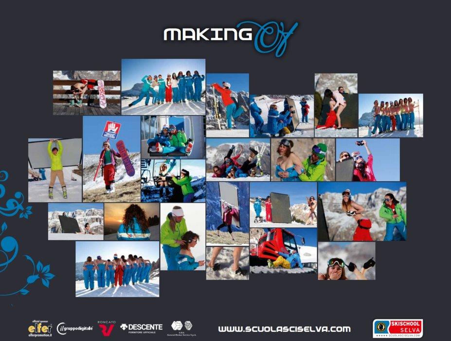 (calendrier des monitrices de ski de Val Gardena au profit de la recherche contre la leucémie) - © Scuola Sci Selva http://www.scuolasciselva.com - Robert Perathoner ski instructor & photographer - www.foto-prodigit.com