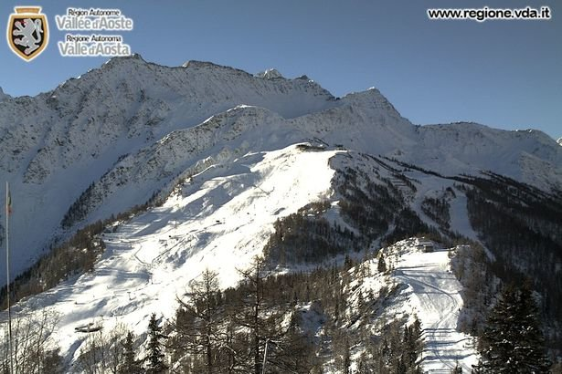 Courmayeur, neve fresca 23.11.15 - © Courmayeur webcam