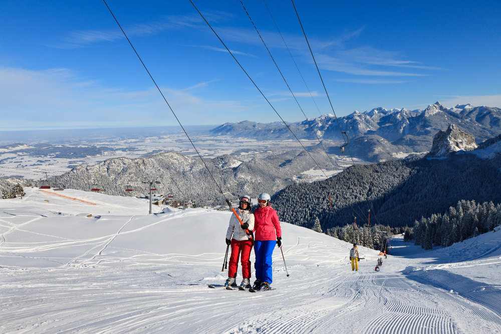 Sechs Schlepplifte und 6,5 Pistenkilometer aller Schwierigkeitsgrade in Pfronten-Steinach - © Pfronten Tourismus