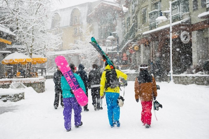 Fresh snow in Whistler Village  - © Tourism Whistler/Mike Crane