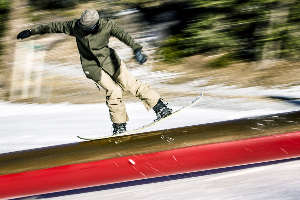Getting the rail vibe in gear at Bear Mountain, Nov. 2015. - © Big Bear Mountain Resort