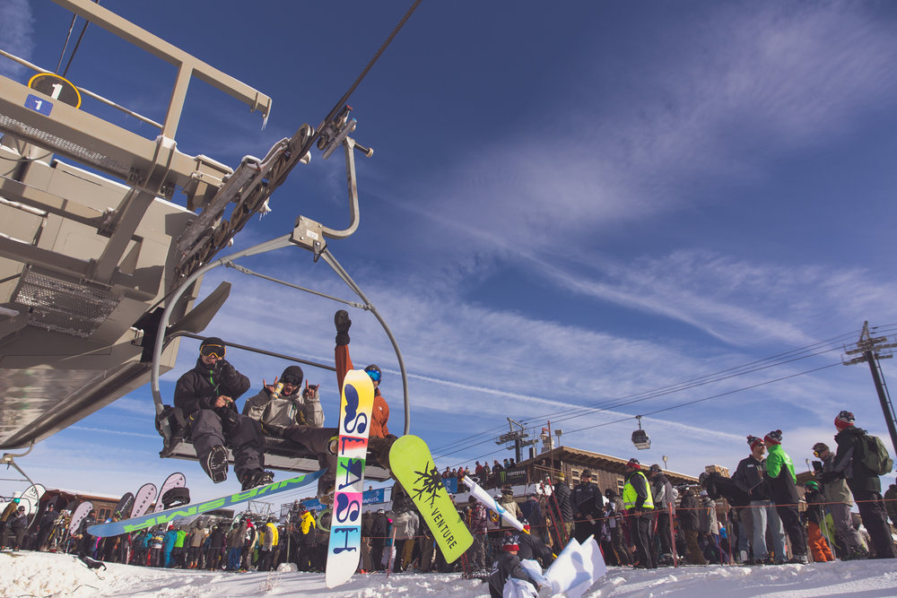 First ride of the season grins at Mammoth Mountain.  - © Peter Morning/Mammoth Mountain