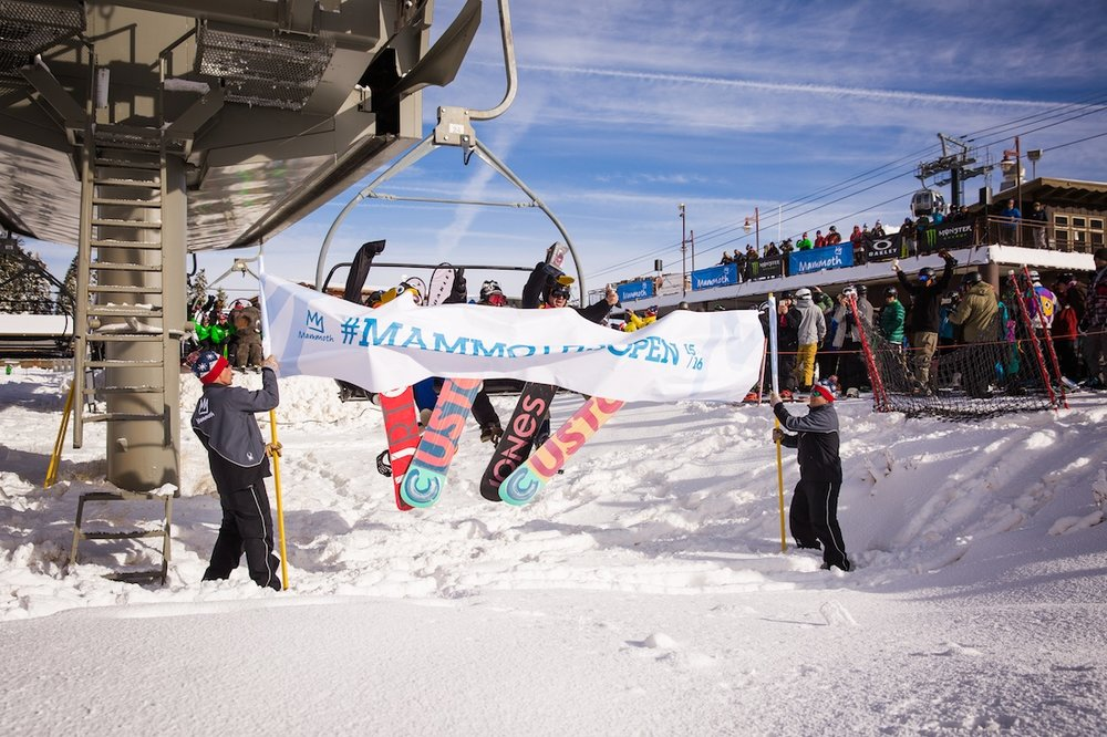 First chair at Mammoth Mountain's opening day - © Peter Morning/MMSA