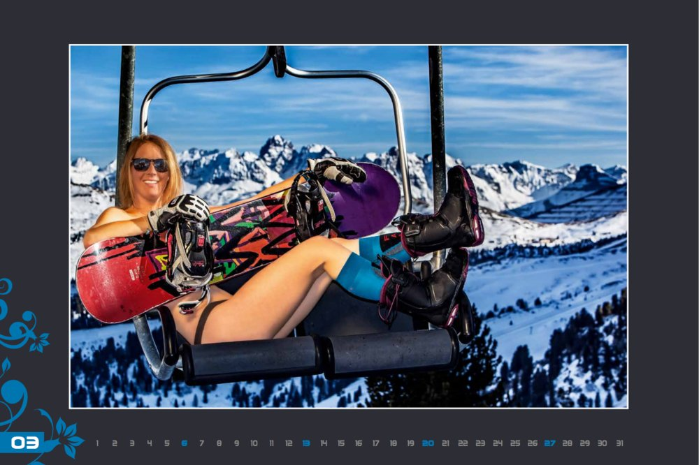 Miss March (Val Gardena Ski Instructors Calendar 2016) - © Scuola Sci Selva http://www.scuolasciselva.com - Robert Perathoner ski instructor & photographer - www.foto-prodigit.com